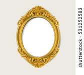 oval vintage  gold picture... | Shutterstock .eps vector #531252583
