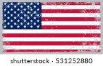 grunge usa flag.vector american ... | Shutterstock .eps vector #531252880
