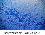 frosted glass texture  winter... | Shutterstock . vector #531254284