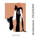 fashion woman silhouette....   Shutterstock .eps vector #531256504