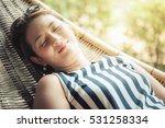 young beautiful asian woman... | Shutterstock . vector #531258334