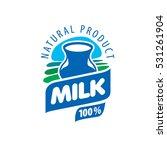 vector logo milk | Shutterstock .eps vector #531261904