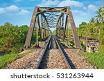rail way and steel bridge for... | Shutterstock . vector #531263944