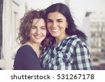 happy mother and daughter... | Shutterstock . vector #531267178
