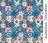 zentangle abstract flower....   Shutterstock .eps vector #531268504