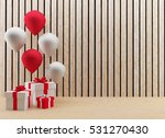gift boxes with balloons... | Shutterstock . vector #531270430