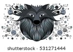 vector drawing of a wolf. | Shutterstock .eps vector #531271444