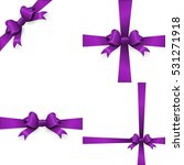 shiny purple satin ribbon on... | Shutterstock .eps vector #531271918