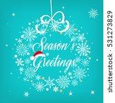 seasons greetings sign over...   Shutterstock .eps vector #531273829