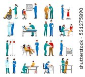 nurse icons set with medical... | Shutterstock .eps vector #531275890