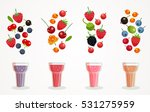 berry smoothies glasses... | Shutterstock .eps vector #531275959