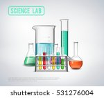 science lab symbols composition ... | Shutterstock .eps vector #531276004