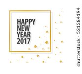happy new year 2017 text in... | Shutterstock .eps vector #531284194