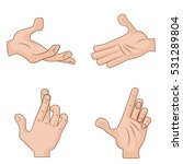 set of vector cartoon hands... | Shutterstock .eps vector #531289804