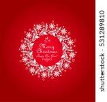 decorative paper wreath for... | Shutterstock .eps vector #531289810