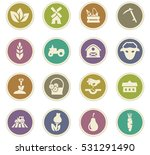 agricultural icons set for web... | Shutterstock .eps vector #531291490