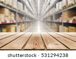 wooden empty warehouse on the... | Shutterstock . vector #531294238