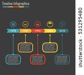 timeline infographics template... | Shutterstock . vector #531295480