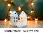 little toy christmas houses... | Shutterstock . vector #531295528