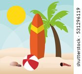 summer holiday and vacations... | Shutterstock .eps vector #531296119