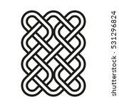 celtic pattern. element of... | Shutterstock .eps vector #531296824