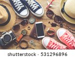 travel accessories costumes.... | Shutterstock . vector #531296896