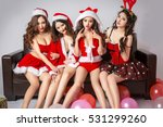 groups of sexy beautiful asian... | Shutterstock . vector #531299260