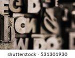 metal letterpress types.... | Shutterstock . vector #531301930