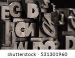 metal letterpress types.... | Shutterstock . vector #531301960
