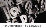 metal letterpress types.... | Shutterstock . vector #531302338