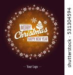 merry christmas corporate... | Shutterstock .eps vector #531304594