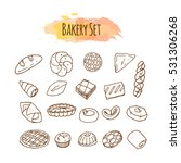 bakery elements. pastry... | Shutterstock .eps vector #531306268