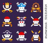 pirate logos with different... | Shutterstock .eps vector #531314314
