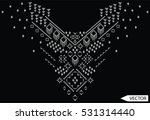 embroidery ethnic flowers neck... | Shutterstock .eps vector #531314440