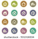 house type icon set for web... | Shutterstock .eps vector #531318334