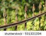 old weather beaten rrusty iron...   Shutterstock . vector #531321334