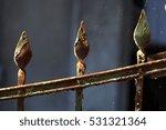 old weather beaten rrusty iron...   Shutterstock . vector #531321364