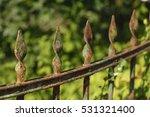 old weather beaten rrusty iron...   Shutterstock . vector #531321400