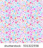 cute floral pattern in the... | Shutterstock .eps vector #531322558