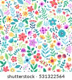 cute floral pattern in the... | Shutterstock .eps vector #531322564