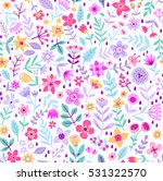 cute floral pattern in the... | Shutterstock .eps vector #531322570