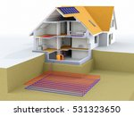 geothermal power house with... | Shutterstock . vector #531323650
