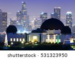 griffith observatory with...