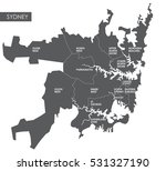 vector map sydney district | Shutterstock .eps vector #531327190