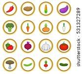 vegetables  set in cartoon... | Shutterstock . vector #531327289