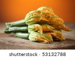 Zucchini And Flowers