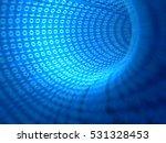 digital transmission tunnel... | Shutterstock . vector #531328453