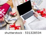 christmas online shopping top... | Shutterstock . vector #531328534