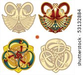 abstract celtic color design... | Shutterstock .eps vector #53132884