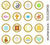 religion  set in cartoon style... | Shutterstock . vector #531328930
